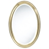 Blake Oval Mirror, Aged Gold Finish, beveled mirror