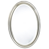 Blake Oval Mirror, Aged Silver Finish, Beveled Mirror