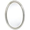 Cooper Classics Blake Oval Mirror, Aged Silver Finish, Beveled Mirror