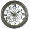 Marlow Clock, Aged Verdigris Finish, Under Glass