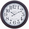 Cooper Classics Calhoun Clock, Dark Mahogany Finish with Red Undertones, Under Glass