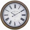 Henley Clock, Toffee Finish, Under Glass