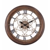 Audrey Clock, Distressed Copper Finish, Under Glass