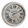 Cooper Classics Daria Clock, Distressed White Finish, Under Glass