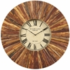 Cooper Classics Chatham Clock, Natural Rustic Wood Finish, Under Glass