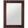 Cooper Classics Savona Rectangular Mirror, Washed Brown Finish with Dark Brown Highlights, Beveled Mirror