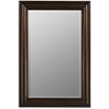 Cooper Classics Julia Rectangle Mirror, Tobacco Finish, Beveled Mirror