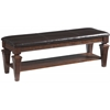 Charleton Lodge Bench, Distressed Chestnut Finish