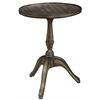 Denton Side Table, Dark Brown Finish with Black Highlights