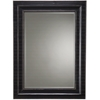 Cooper Classics Bar Harbour Mirror, Black Matte Distressed Finish, Beveled Mirror