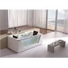 AM196 6' Clear Rectangular Whirlpool Bath Tub for Two with Fixtures