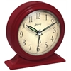 Infinity Instruments Boutique Red Alarm Clock Red steel case with  bell alarm
