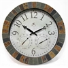 """The Inca 18"""" Round Slate Mosaic Designed Case w/ Hygrometer & Thermometer"""