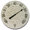 "Infinity Instruments Blanc Fleur 15"" Antique White Finish Dial"