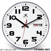 Infinity Instruments Day/Date Black Cased Day/Date Business Clock