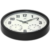 "Infinity Instruments Patio Black 14"" Round, Contemporary Design, Black Finish Steel Case, Hygrometer and Thermometer"