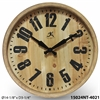 "The Barrel 14"" Wooden Barrell Wall Clock"