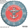 "Infinity Instruments Anchor 24"" Anchor Wall Clock"