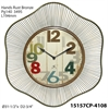 "Infinity Instruments Lace 31.5"" Metal Wall Clock"
