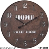 "Metal Home Sweet Home 23.5"" Home Sweet Home Clock"