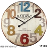 "Weathered Finish Clock 24"" Weathered Distressed Plank Clock"