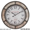 "Infinity Instruments Metal w/ Wood Accents 24"" Metal Clock w/ Wood Accents"
