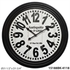"Infinity Instruments Antiquite 31"" Wall Clock with Black Case & Large Numbers"