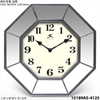 "Estella 16"" Geometric Wall Clock w/ mirror accents"