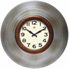 "Mid-Century 22"" Mid-Century Clock w/ pewter finish"