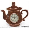 "Infinity Instruments Brew Time 13.5"" Bronze Tea Lover Clock"