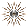 "Infinity Instruments Satellite 23"" Mid-Century Modern Vintage Wall Clock"