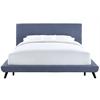 Nixon Blue Linen Bed in Queen