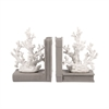 Pomeroy Coralyn Bookends, White,Grey