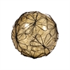 Pomeroy Camile Decorative 4-Inch Sphere In Antique Wheat Artifact, Rustic,Antique Wheat Artifact