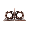 Pomeroy World Bookends, Montana Rustic