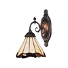 ELK lighting Mix-N-Match 1 Light Wall Sconce In Tiffany Bronze And Honey Dune Glass