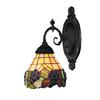 Mix-N-Match 1 Light Wall Sconce In Vintage Antique And Stained Glass