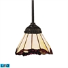Mix-N-Match 1 Light LED Pendant In Tiffany Bronze And Honey Dune Glass