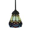 Mix-N-Match 1 Light Pendant In Tiffany Bronze And Multicolor Glass