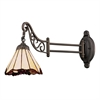 ELK lighting Mix-N-Match 1 Light Swingarm In Tiffany Bronze And Honey Dune Glass