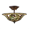 ELK lighting Latham 3 Light Semi Flush In Tiffany Bronze