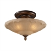 Restoration Flushes 4 Light Semi Flush In Antique Golden Bronze