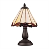 ELK lighting Mix-N-Match 1 Light Table Lamp In Tiffany Bronze And Honey Dune Glass