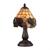 Mix-N-Match 1 Light Table Lamp In Vintage Antique And Stained Glass