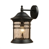 ELK lighting Madison 1 Light Outdoor Wall Sconce In Matte Black