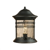 ELK lighting Madison 1 Light Outdoor Post Lamp In Matte Black