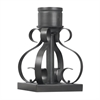 Outdoor Accessories Scrollwork Pier Mount Base In Charcoal