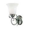 Cornerstone Brighton 1 Light Wall Sconce In Brushed Nickel