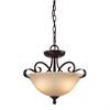 Cornerstone Brighton 2 Light Convertible In Oil Rubbed Bronze