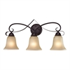 Cornerstone Brighton 3 Light Bath Bar In Oil Rubbed Bronze